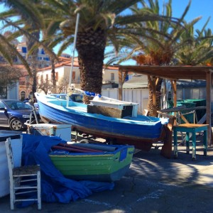 Boats, fishing, koroni