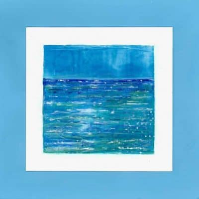 seascape blue turquoise sea painting