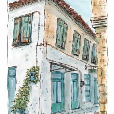 bakery traditional greek village
