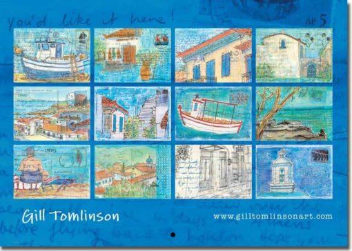 back of calendar greece twelve images