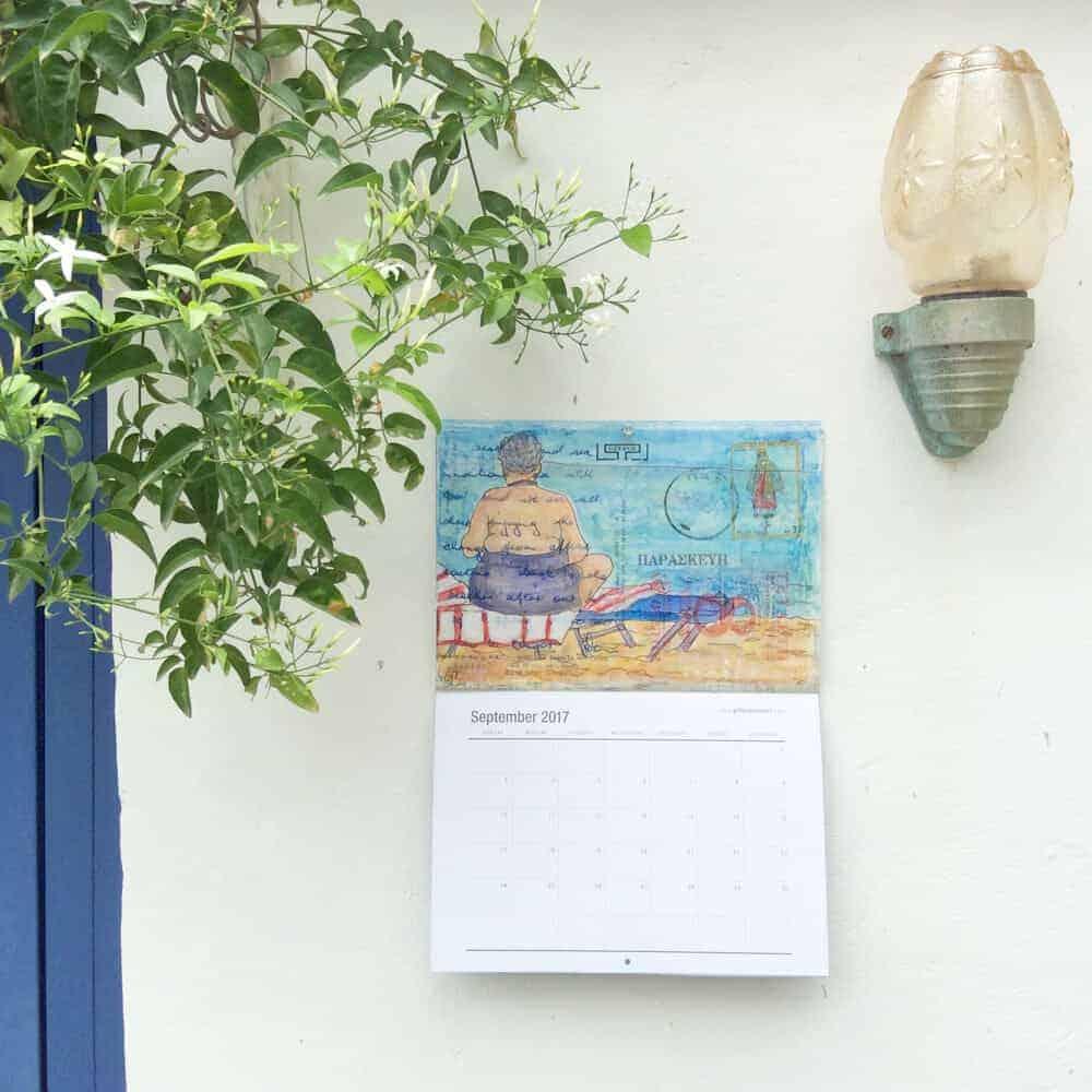 art, calendar, 2017, gill-tomlinson, artist