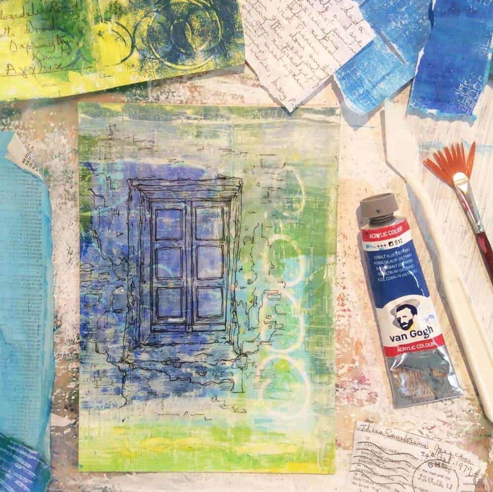 collage, painting, studio