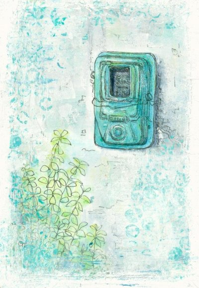 painting Greek electric metre Gill Tomlinson art