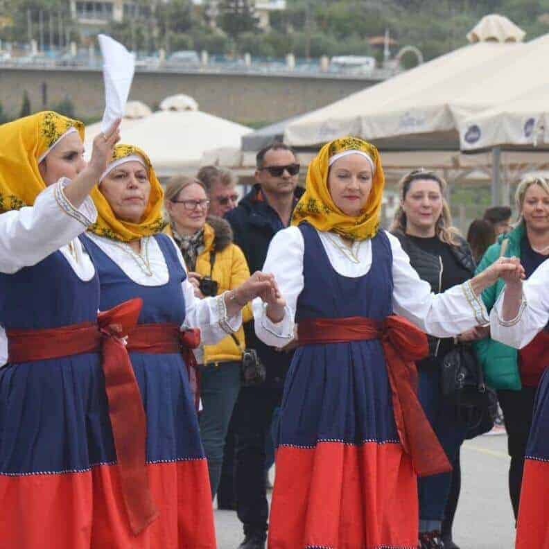 traditional greek dancing in Koroni messinia