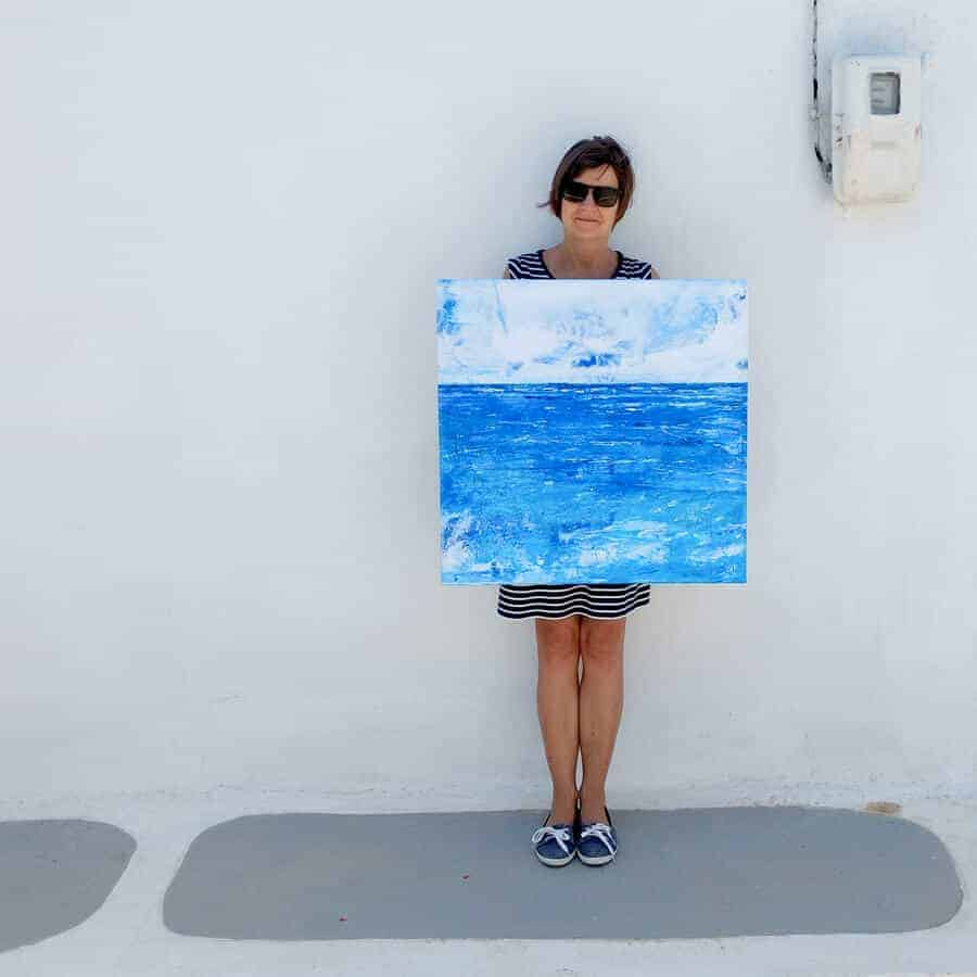 summer seascape canvas art by gill tomlinson greece