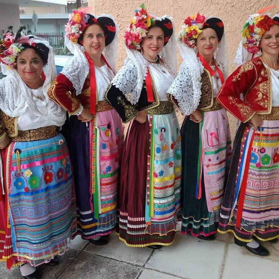 traditional dance costumes from kerkyra corfu greece