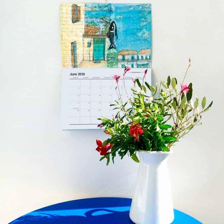 2019 art calendar gill tomlinson art